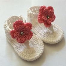 QYFLYXUE-livraison gratuite   Chaussures de bébé en Crochet, gladiateur bébé, chaussons de bébé rose et tan, taille sur mesure 9cm,10cm,11cm