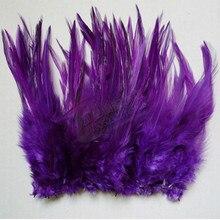 Haute qualité 50pcs violet belle 10-15cm/4-6 pouces naturel faisan cou plumes bricolage vêtements chapeau décoration