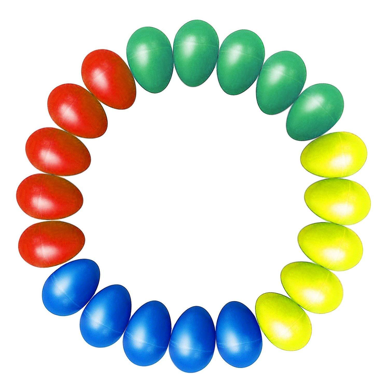 20 sztuk Shaker jaj plastikowy jajko muzyczne Shaker z 4 kolory dla dzieci marakasy jaj zabawki perkusyjne
