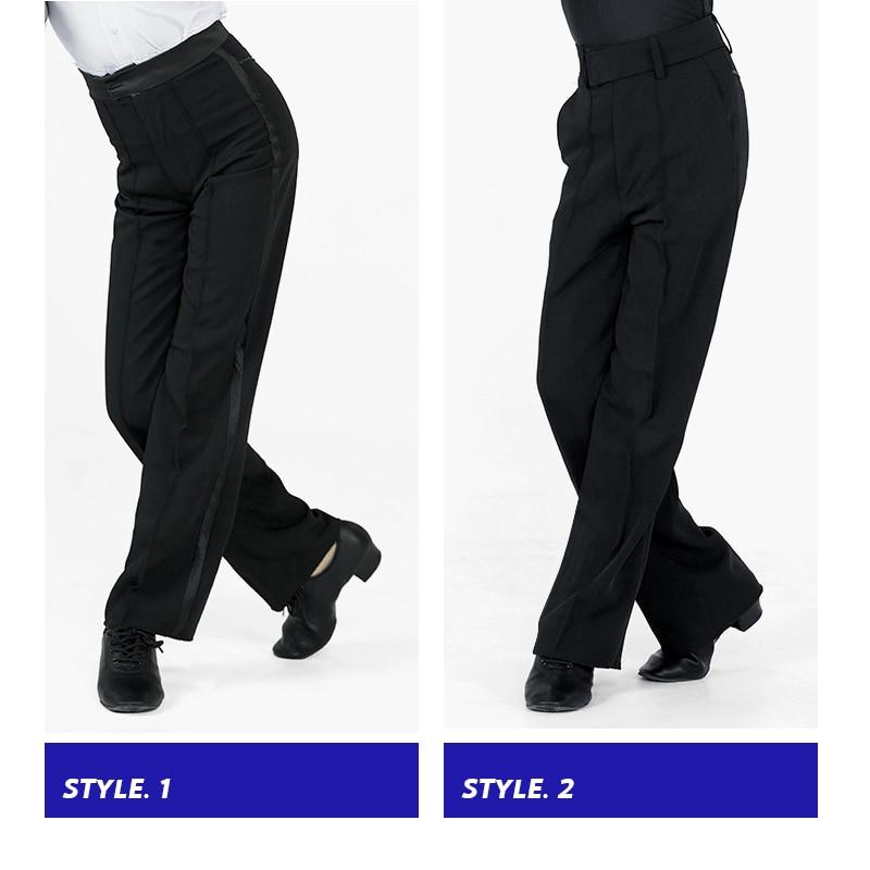 Черные латинские Современные Бальные брюки для мальчиков и мужчин, штаны для латинских танцев