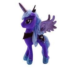 35cm mon animal de compagnie petit cheval princesse Luna & cauchemar lune haute qualité grande poupée en peluche jouets de noël