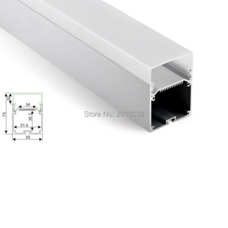 30 X 2M Sets/Lot Linear light aluminum led profile housing Large wide U shape led aluminium channel for hanging lamps