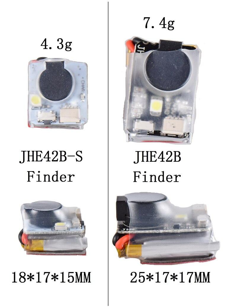 Buscador JHE42B JHE42B_S 5V Super zumbador rastreador 110dB con alarma de zumbador LED para Dron de carreras con visión en primera persona controlador de vuelo