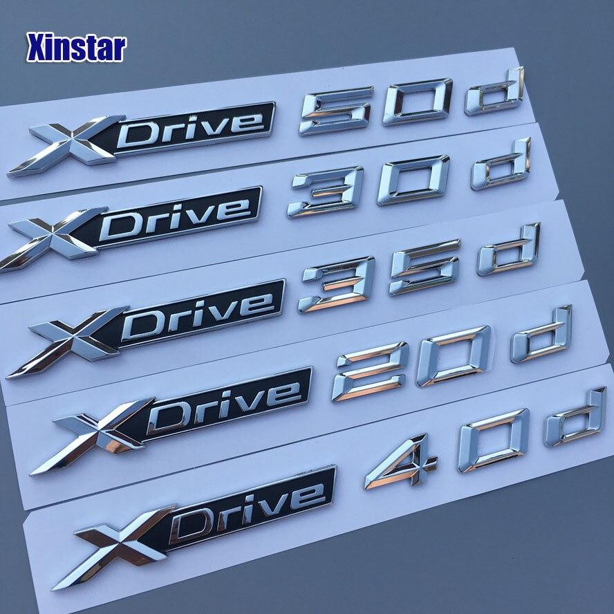 1pc Factory Supply ABS Original Quaity xdrive 18d 20d 28d 30d 35d 40d 23d 50d car side body sticker for BMW x1 x3 x4 x5 x6