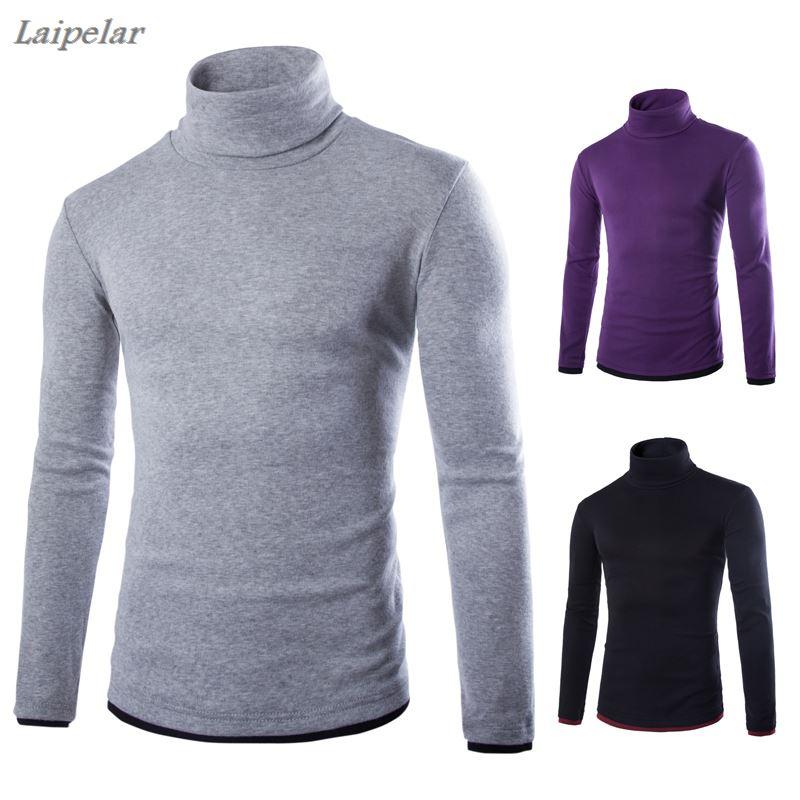 Laipelar новый мужской модный бутик соединяющийся Тонкий Досуг водолазка вязаный свитер/мужской тонкий свитер в стиле кэжуал пуловеры