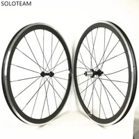 38mm aluminum brake surface carbon clincher wheelset 700c road bike carbon wheels
