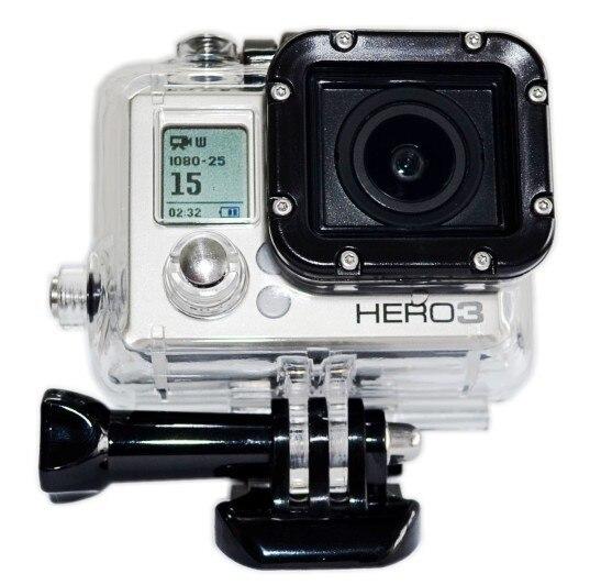 Ms. l. meilyadigital para gopro3/3 +/4 caso de habitação à prova dwaterproof água sob a água 35m para gopro hero 3/3 +/4 câmera esportiva