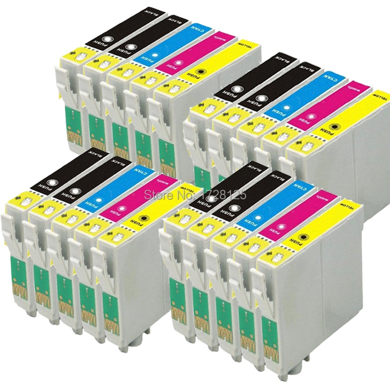 20x T1291-T1295 XL Compatible Ink cartridge for Epson Stylus SX525WD SX535WD SX235W SX425W SX440W SX445W B42WD BX320FW Printer