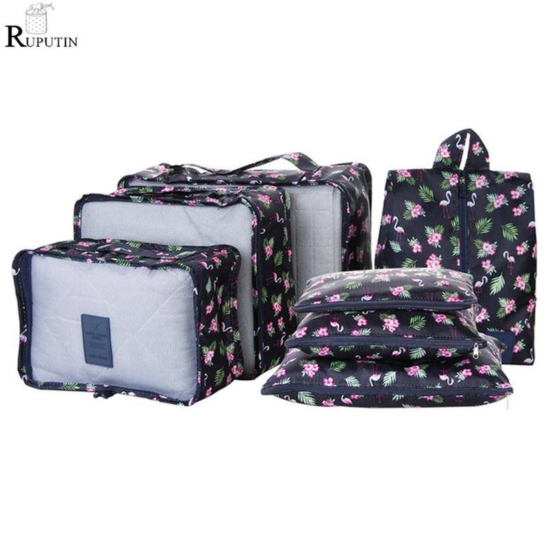 RUPUTIN 7Pcs/set Travel Organizer Storage Bags Portable Luggage Organizer Clothes Tidy Pouch Suitcase Packing Set Storage Cases