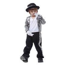 Michael Jackson Jassen Kostuums Voor Kids Billie Jean Cosplay Jongens Handschoen Kostuum Fedora Hoed Zwarte Meisjes Kid