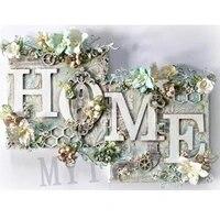 Peinture diamant theme  maison douce   broderie complete 5D  perles carrees ou rondes  motif image en point de croix  decoration dinterieur  DIY bricolage