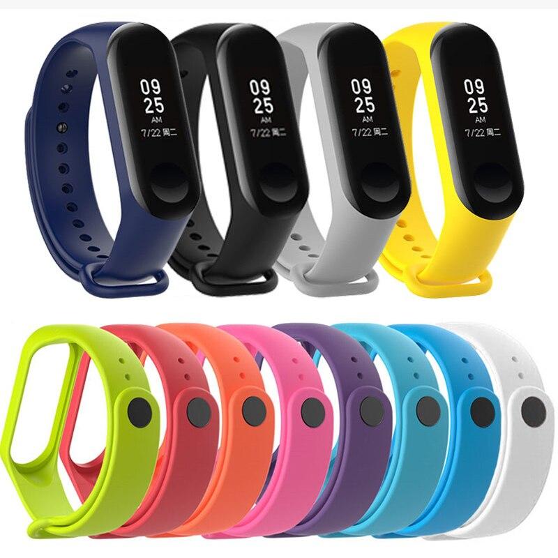 Прочные часы силиконовый браслет для Xiaomi mi Band 4 Xio mi band 3 Brand 4 Band 4 браслеты аксессуары на ремнях My mi band 3