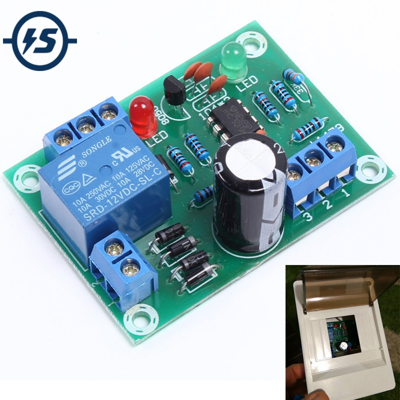 Módulo de interruptor de Sensor de nivel de agua, bombeo automático de protección de drenaje, control de placa de circuito