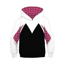 Kids Boys Girls 3D Printed Hooded Naruto Hoodies Spider Gwen Cosplay Sweatshirts Iron Spider Pullover Costumes Children