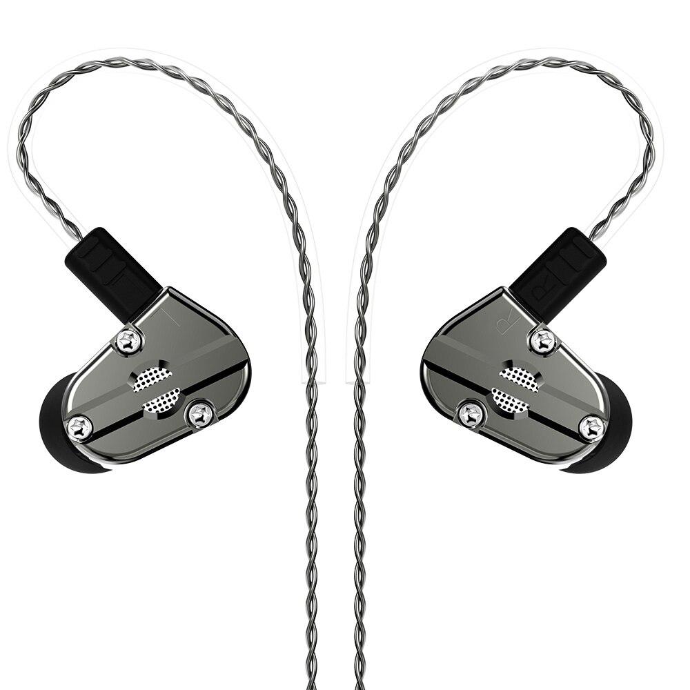 Fone de Alta Fone de Ouvido 1dd + 1ba Fone para As10 Híbrido Ouvido Fidelidade dj Monitor Earplug Zs10 Zst Zsn C10 C16 V80 Qt2 Qt3 Qt5 no