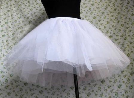 Princesa Sopro Saia de Tule Duro Pannier Lolita Saia Petticoat Underskirt Com Forro Preto Branco