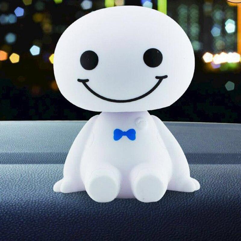 Auto Ornament Dashboard Ornamente Nette Schütteln Kopf Roboter Puppe Auto Innen Dashboard Dekoration Zubehör Spielzeug Geschenk