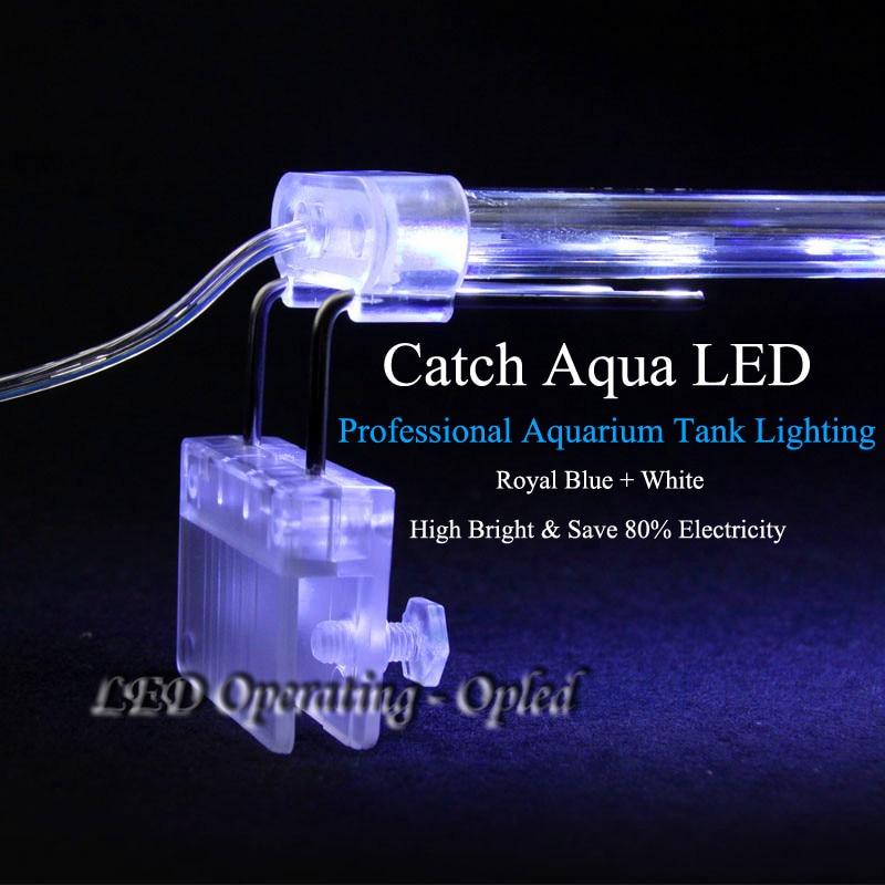 high class Crystal led aquarium light,Royal Blue aquarium lamp double catch tank wall for fish tank light, aquarium led lighting