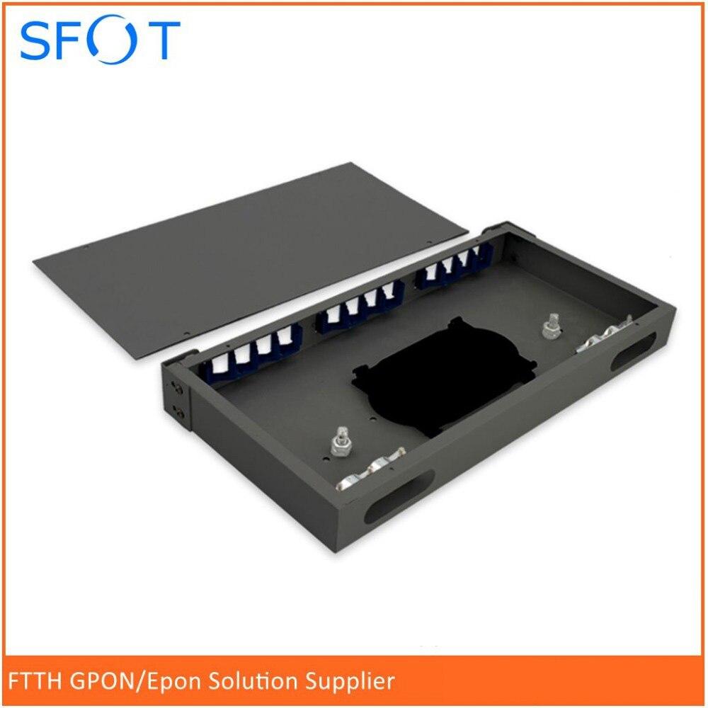 12-port fiber optic cable terminal box FC / SC / ST universal port fiber optic fiber box rack