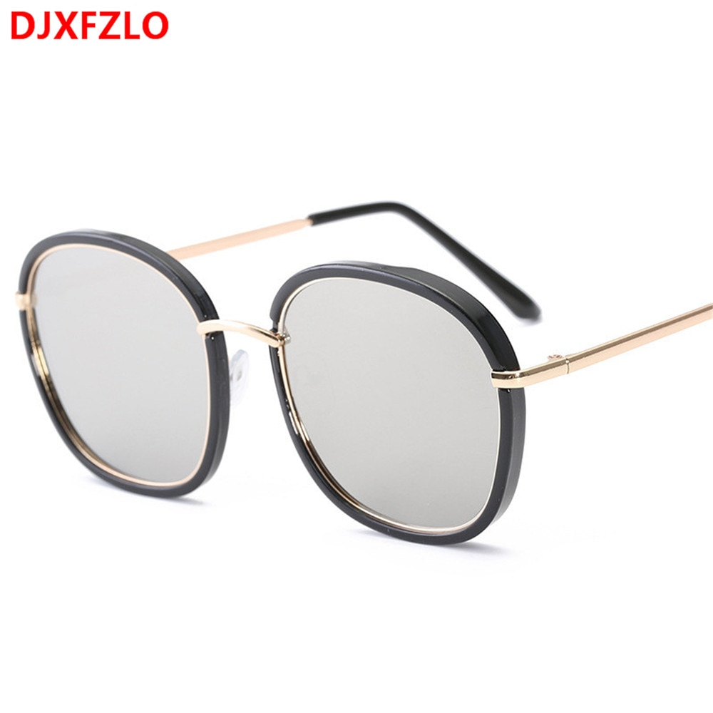 DJXFZLO 2018 New Fashion Polygon Sunglasses Women Brand Designer Vintage Sun Glasses Clear Sun Glass