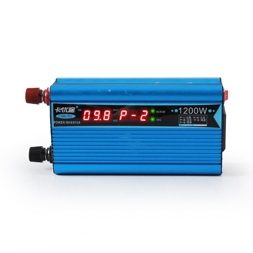 Mais pico ideal 1200 w modificado inversor de onda senoidal bom inversor solar 12 v 220 v com original digital P-1/2/3/4 exibição de código de falha