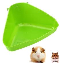 Угловой поднос для туалета для домашних животных, ящик для кошачьей мыши, крысы, кролика, хомяка, мыши, пластиковый контейнер для мусора для домашних животных, пластиковый уголок для маленьких животных