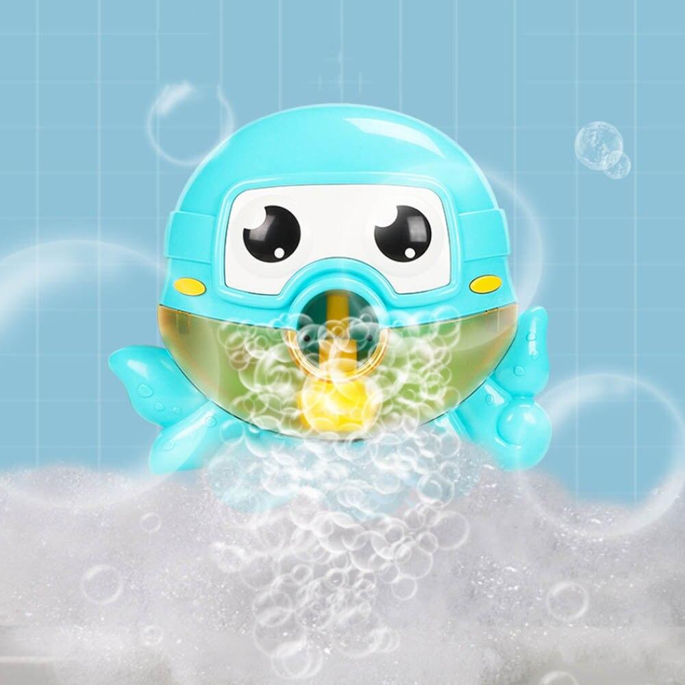 Máquina de burbujas de Spitting máquina de música para niños juguetes de baño octopus máquina de burbujas eléctricas juguetes para jugar con agua olla de burbujas de baño