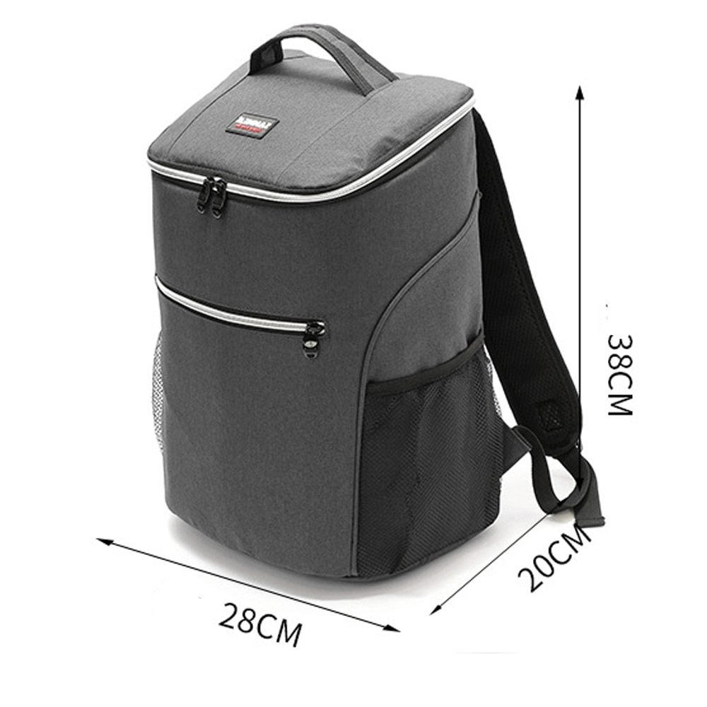 20L 600D oxford bolsa térmica grande caja para almuerzo o pícnic mochila de aislamiento fresco bolsa de hielo bolsas de hombro térmicas