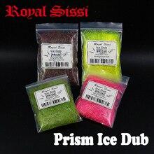 Juego de 5 bolsas/set súper fino prisma hielo dub atado de moscas material de doblaje fibra de doblaje de chispa sintética para Ninfa Scud trucha salmón moscas