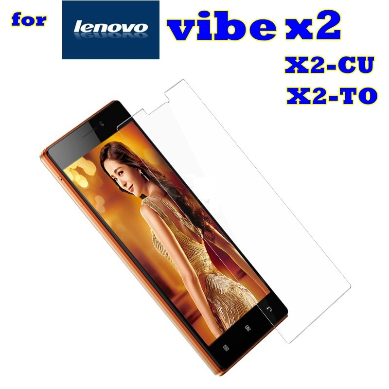 Vidrio templado para Lenovo vibe x2 X2-TO X2-CU a cu funda con film protector de pantalla para Lenovo X2 X 2 teléfono móvil glas sklo *