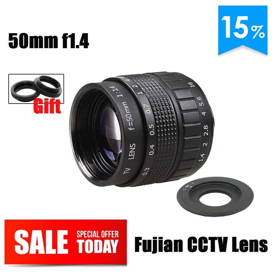 Fujian 50mm F1.4 CCTV lens C-M4/3 C-M43 adaptador C montaje de anillo para Panasonic GF1 GF2 GF3 GF5 GF6 GX1 G1 G2 G3 G5 GH1 GH2 GH3 lente