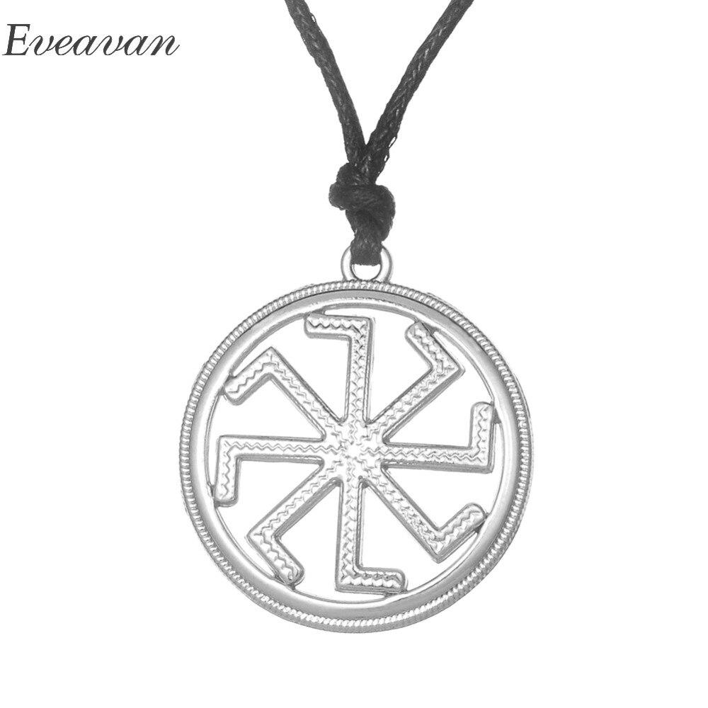 EUEAVAN 30 piezas Slavic talismán Slavic kolovrata colgante collar rueda de sol energía aleación de Zinc joyería para hombres