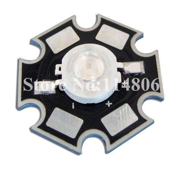 10pcs 3W UV Ultraviolet 388nm~390nm 45mil Chip LED Light Parts With 20mm Star Base