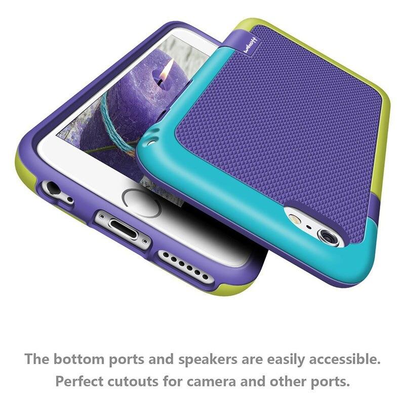 Caja de color caramelo antideslizante híbrida para iPhone X 7 8 6s Plus funda de silicona suave dura PC TPU a prueba de golpes funda de impacto resistente
