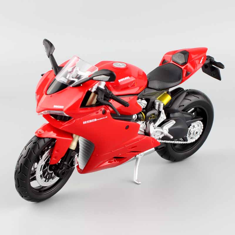 1:12 Масштаб Maisto дети 1199 Panigale R Superbike литые под давлением модели мотоцикла гоночного велосипеда Реплика мини металлическая игрушка красный