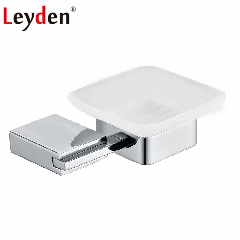 Leyden 304-صحن صابون للحمام مثبت على الحائط من الفولاذ المقاوم للصدأ مطلي بالكروم ، حامل صابون متين ومقاوم للصدأ لإكسسوارات الحمام