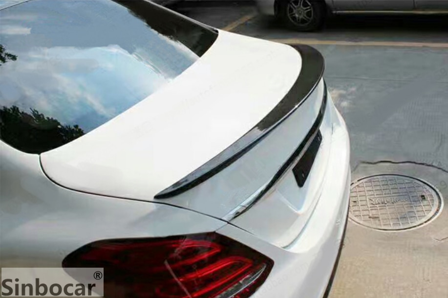 ABS de plástico pintado cola alerón para tapa de maletero con imprimación de color Spoiler trasero para Mercedes Clase E W213 Spoiler 4-puerta sedán 2016-2018