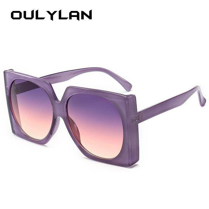 Oulylan de gafas de sol de las mujeres Retro de gafas de sol de marca de diseñador de tonos rojo púrpura Sunglass hombres gafas UV400