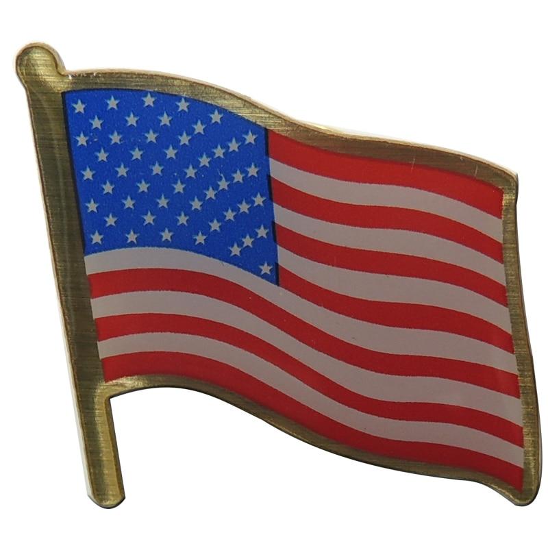 Nacional pin bandera barato emblema insignia de metal OEM EE. UU. Insignias de la bandera
