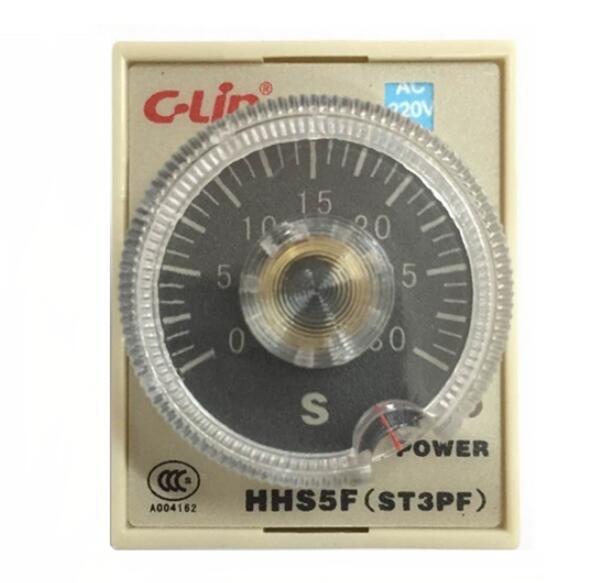 Relé de tiempo de retardo de potencia c-lin HHS5F ST3PF AC220 60 s