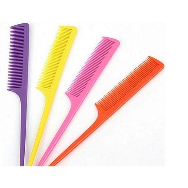 10 unids/lote peine de cola puntiaguda tipo Clip diseño salón herramientas peluquería queratina tratamiento herramienta de diseño al por mayor