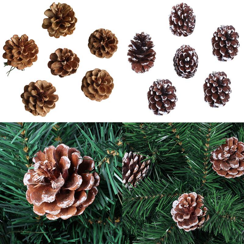 FunPa 72 Uds., piñas de adorno colgantes de Navidad, piña natural, de árbol de Navidad Adornos, Niños, Artículos para fiestas festejos, favores