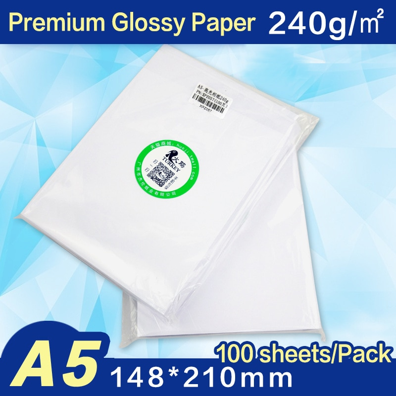 A5 photo paper 240gsm  Premium Glossy inkjet  paper( 148x210mm)  100 sheets/pack  5R 4R 2021 hot sale 100 sheets glossy 4r 4x6 photo paper 200gsm high quality for inkjet printers