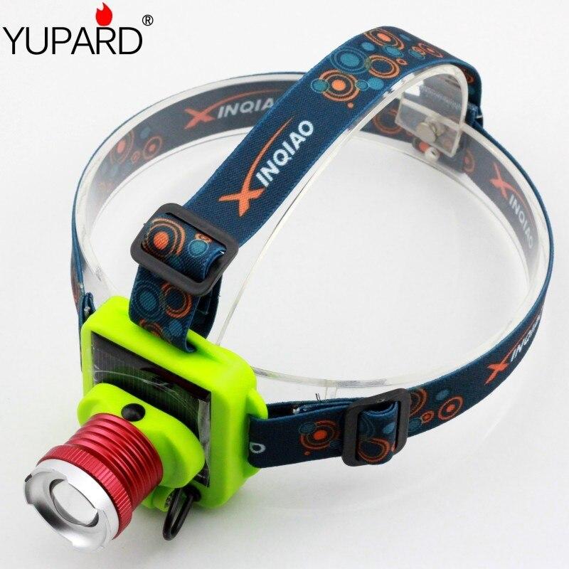 Linterna de cabeza con batería recargable YUPARD, linterna de cabeza con 3 modos Zoomable Q5, faro delantero LED para Camping y pesca
