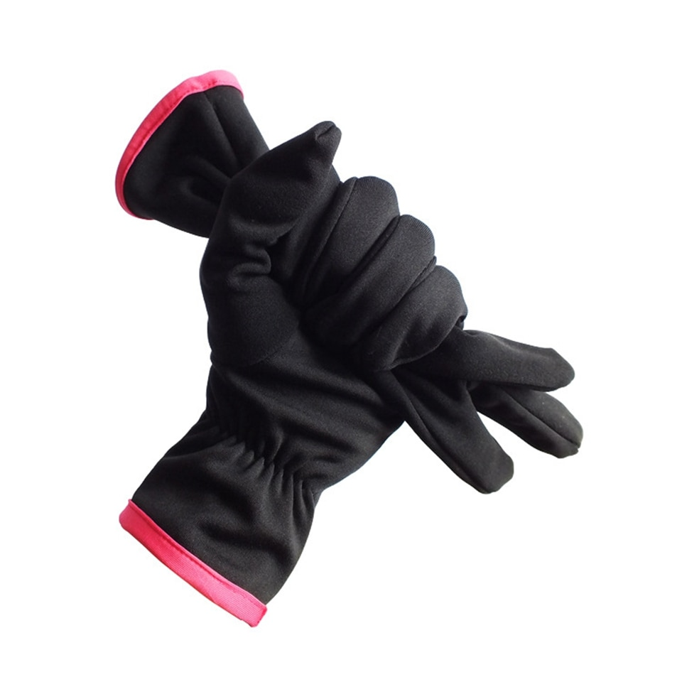 Winter Windproof Warm Glove Breathable Outdoor Running Hiking Gloves Black Wear-resistant Anti-skid Cycling Mitten for Man Woman