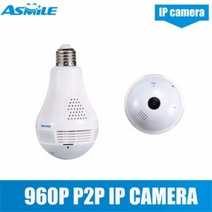 Escam QP136 HD 960P 1.3MP E27 power WIFI IP Camera 360 Degree Panoramic H.264 Infrared Indoor Motion Detection Security Camera