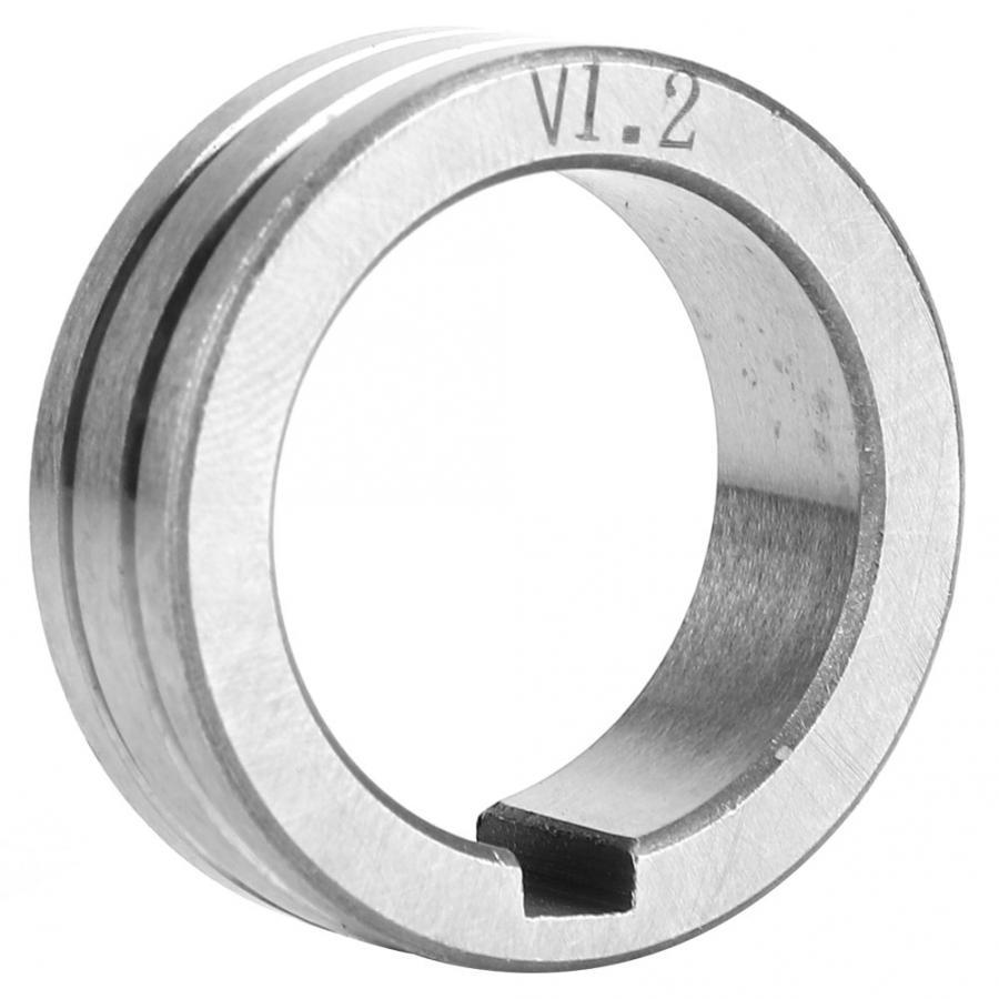 Rodillo alimentador de alambre de acero inoxidable de tamaño 0,8/1,0/1,2mm herramienta de soldadura de rueda guía de alimentación de cable de soldadura doble de alta calidad