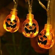 1.5M 10LEDS Halloween Citrouille Lumières à Piles Lumières De Décoration Pour Halloween Fête Décoration