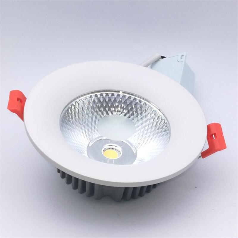 Диммируемый Светодиодный точечный светильник, потолочный Точечный светильник COB, встраиваемый потолочный светильник для помещений с драйв...