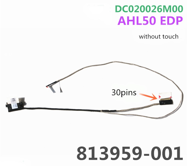 Ноутбук/ноутбук LCD/LED/кабель lvds гибкий кабель для HP 15-AC 15-AF 250G4 255G4 TPN-C125 30PIN DC020026M00 AHL50 EDP